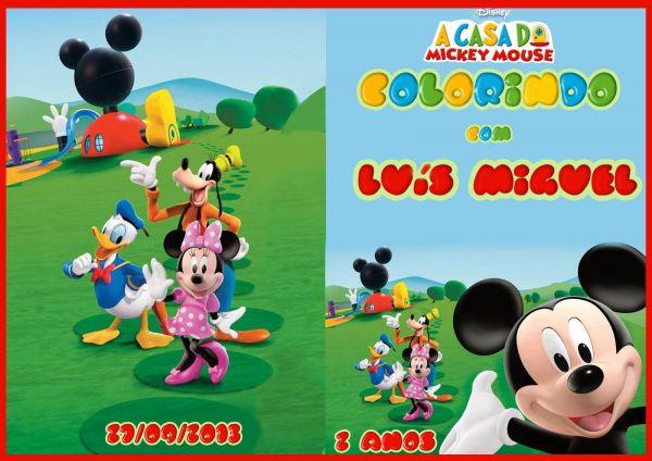 Capa Livrinho A Casa Do Mickey Foto Artes Digitais