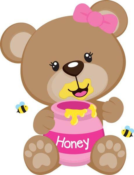Cole o imagens e vetores ursinha rosa cute foto artes - Animale san valentino clipart ...